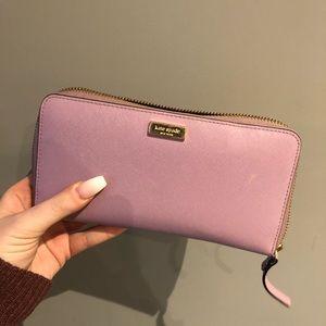 Light purple kate spade wallet